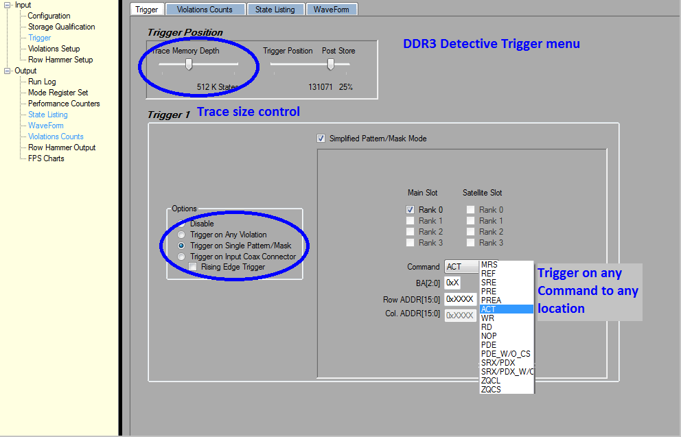 DDR3 Detective Trigger set up